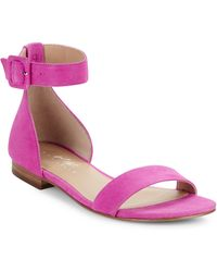 424 Fifth - Chantella Suede Sandals - Lyst