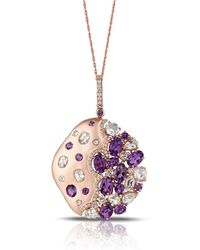 Marco Moore - Diamond, Amethyst And 14k Rose Gold Necklace - Lyst