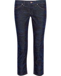 Etoile Isabel Marant Irwin Tiger-print Velvet Straight-leg Pants - Lyst