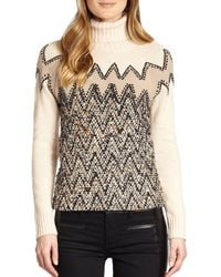 Tory Burch Brown Ilsa Sweater - Lyst