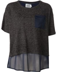 Shades of Grey by Micah Cohen Contrasting T-shirt - Lyst
