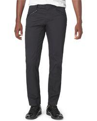 Calvin Klein Premium Satin Moto Pants - Lyst