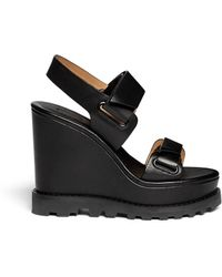 Marc By Marc Jacobs Leather Platform Wedge Sandals - Lyst