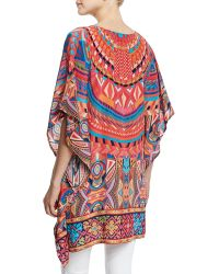 Tolani - Camille V-neck Printed Tunic - Lyst