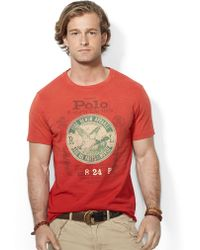 Polo Ralph Lauren Custom Fit Graphic T Shirt - Lyst