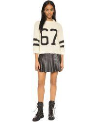Smythe - Varsity Sweater - Ivory W/black - Lyst