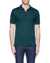 Lanvin Sneaker-Logo Polo Shirt - Lyst
