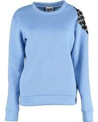 By Sun - Shoulder Flowers Lace Sweatshirt - Lyst