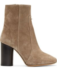 Isabel Marant Tan Suede Garbo Bootsy Boots - Lyst