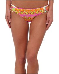 Trina Turk Woodblock Floral Shirred Side Hipster - Lyst