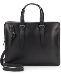 John Varvatos Hallowell Leather Attache Briefcase - Lyst