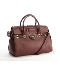 Jimmy Choo Dark Red Leather 'Rosalie' Convertible Top Handle Satchel - Lyst