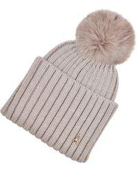 Patrizia Pepe - Wool Hat With Rabbit Fur Insert - Lyst
