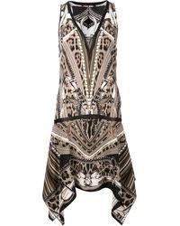 Roberto Cavalli Flowy Asymmetric Dress - Lyst