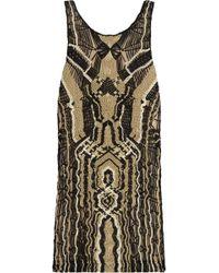 Diane von Furstenberg Neapoli Metallic Macramã© Mini Dress - Lyst