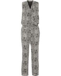 W118 by Walter Baker - Kiley Snake-print Crepe Jumpsuit - Lyst