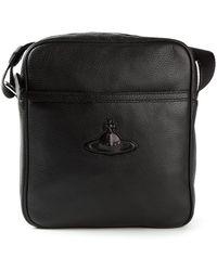 Vivienne Westwood Stamped Logo Messenger Bag - Lyst