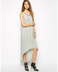 Y.A.S Maxi Dress With Colour Block Back Contrast - Lyst