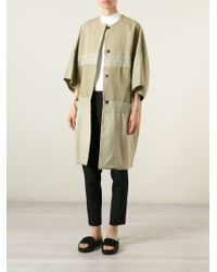 Hache - Panelled Cocoon Coat - Lyst