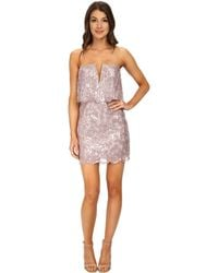 BCBGMAXAZRIA Kate Sequined Strapless Dress - Lyst