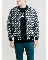 Topman A Question Of Dogs Bomber Jacket - Lyst