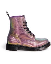 Dr. Martens Pascal Chromatic Python Print Suede Boots - Lyst