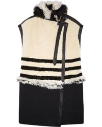 Chloé Sleeveless Leathertrimmed Shearling Coat - Lyst