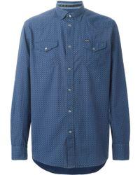 Diesel 'Sulfuris' Shirt blue - Lyst