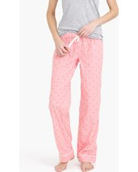 J.Crew   red Cotton Textured-dot Pant In Stripe   Lyst