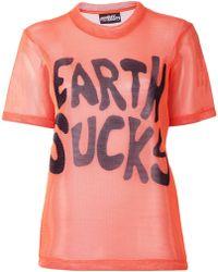 Jeremy Scott Jersey Mesh T-shirt - Lyst