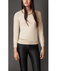 Burberry Chain Detail Wool Cashmere Sweater - Lyst
