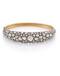 Fred Leighton - Contemporary Rose-Cut Diamond Bombe Hinged Bangle Bracelet - Lyst