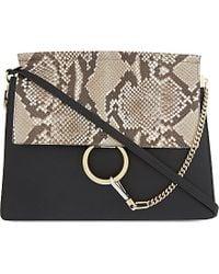 Chloé Faye Medium Python-Leather Over The Shoulder Handbag - For Women - Lyst