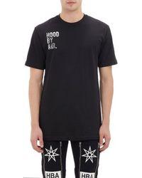 Hood By Air Black Logo T-shirt - Lyst