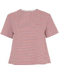 RED Valentino Striped Box Top - Lyst