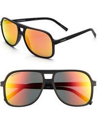 Converse - 'monitor' 58mm Aviator Sunglasses - Lyst