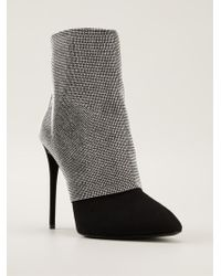 Giuseppe Zanotti Crystal Mesh Ankle Boots - Lyst