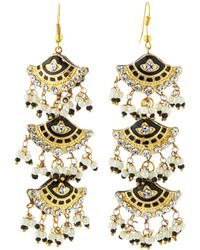 Chamak by Priya Kakkar - Fan-style Tier Drop Earrings - Lyst