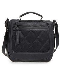 Big Buddha - Faux Leather Crossbody Flap Bag - Lyst