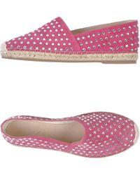 Casadei Espadrilles pink - Lyst