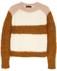 Isabel Marant Owel Color-block Knitted Sweater - Lyst
