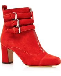 Tabitha Simmons Nash In Red Split Suede - Lyst