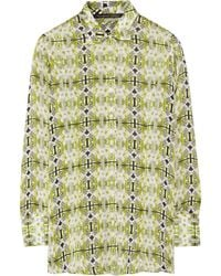 Theyskens' Theory Bross Printed Silk Shirt - Lyst