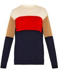 Céline | Colour-Block Cashmere Sweater | Lyst