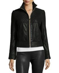 Neiman Marcus - Pearlized Quilted Leather Jacket - Lyst