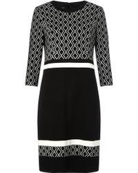 Gerry Weber   Patterned Colour Block Dress   Lyst