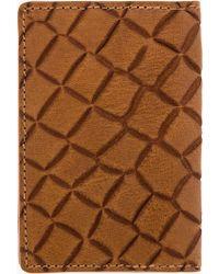 Kris Van Assche - Brown Embossed Croc Leather Card Holder - Lyst