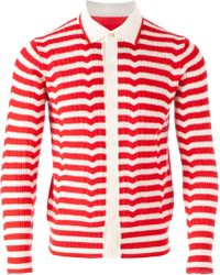 Side Slope - Striped Cardigan - Lyst