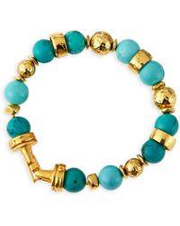 Jose & Maria Barrera Turquoise Beaded Bracelets - Lyst