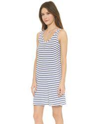 Csbla - Rimini Stripe Tank Dress - Navy/white - Lyst